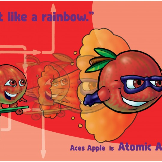 A2 Poster Atomic Apple