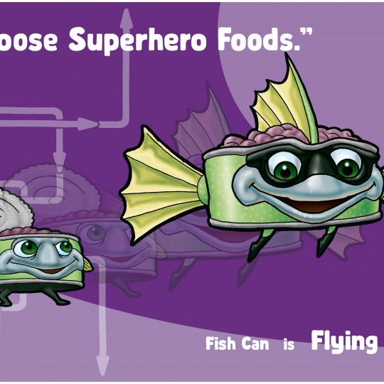 A2 Poster Flying Fish
