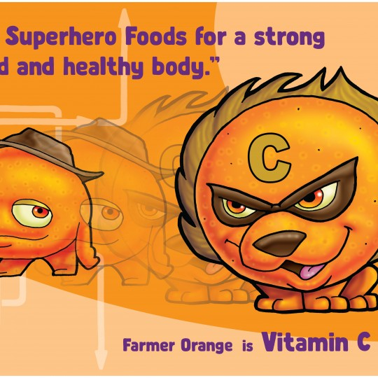A2 Poster Vitamin C Lion