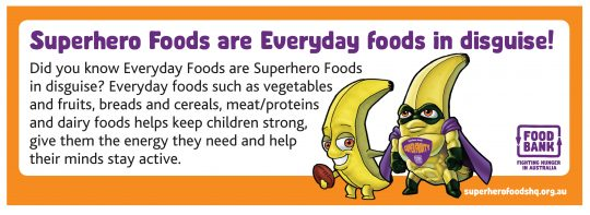 Superhero Foods are Everyday Foods in disguise